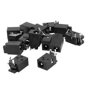 uxcell DC電源ジャック ソケット コネクタポート 充電 パネルマウント 4.0mm x 1.7mm 15個|soten