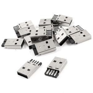 uxcell USB A タイプ メス プラグ コネクタ はんだタイプ 15個入り|soten