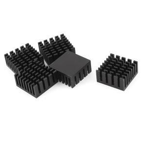 uxcell ヒートシンク ラジエーター アルミ合金製 ブラック 20mm x 20mm x10mm 5個セット|soten