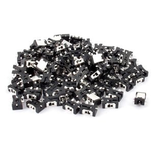 uxcell DC電源ジャックソケットコネクタ 5ピンSMT メス 2.5mm DC012 100個...