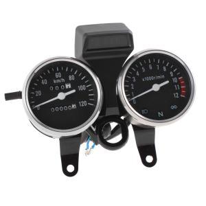 uxcell バイク スピードメーター ブラック DC 12V 0-120km/h GN用|soten