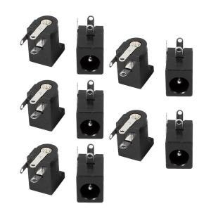 uxcell DC電源ジャックソケットコネクタ 3ピン 回路基板用 DC-005 メス 5.5x2....