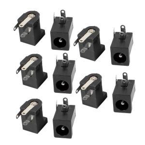uxcell DC電源ジャックソケットコネクタ 3ピン 回路基板用 メス 5.5x2.5mm DC-...