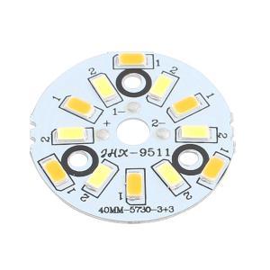 uxcell LEDアルミニウムベース PCBマウント 3W 12LEDs 5730 SMD ベース直径40mm|soten