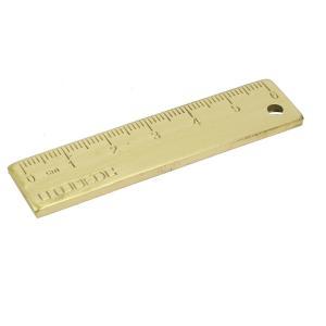 uxcell 真鍮ルーラー 65x15x3mm 測定ツール 6cmルーラー 屋外ツール EDCツール|soten