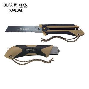 OLFA WORKS(オルファワークス) 替刃式フィールドノコギリ FS1 携帯性に優れた替刃式ノコ...