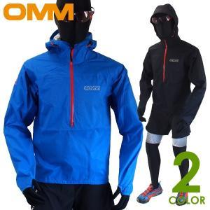 OMM オリジナルマウンテンマラソン メンズ 防水ハーフジップジャケット Aether Smock ...