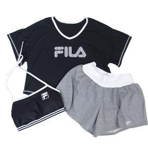 FILAフィラレディース水着4点セット(Tシャツ+スポーツブラ+ショーツ+パンツ)228707