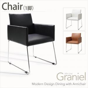 モダンデザインアームチェア付きダイニング【Graniel】グラニエル チェア1脚|sotome
