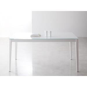 ハイグレードガラスダイニング【Placidez】プラシデス テーブル(グロッシーホワイト)|sotome