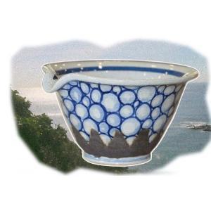 すり鉢(手のひらサイズ) 陶器製  手書き 一点もの すりこ木付き|sotome