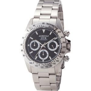 送料無料 オレオール メンズ クロノグラフ腕時計 ブラック SW581M-1|sotome