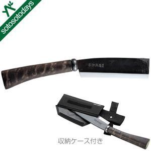 刃厚6mm黒打ち仕上げのつるばみ鉈は、切れ味抜群の「片刃はまぐり刃」仕様の本格的鉈です。 [アウトド...