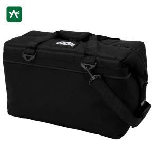 エーオークーラー クーラーバッグ 36パック キャンバス ソフトクーラー ブラック AO36BK|sotosotodays