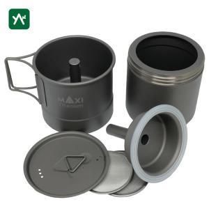 マキシ チタン コーヒーメーカー 200ml MX-ECM200|sotosotodays