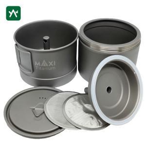マキシ チタン コーヒーメーカー 400ml MX-ECM400|sotosotodays