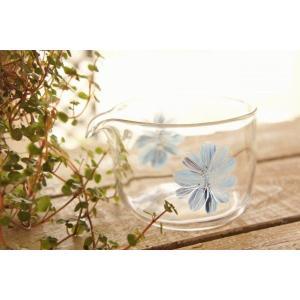 吹きガラス 片口 鉢 花器 花紋 中野由紀子 作家|sotsot