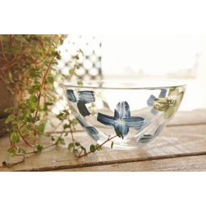 吹きガラス カップ 鉢 ボウル 花 アジサイ 中野由紀子 作家|sotsot