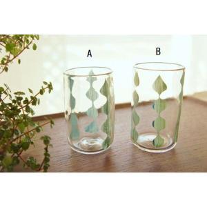 吹きガラス グラス コップ 雫連 中野由紀子 作家|sotsot
