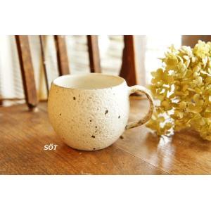 陶器 マグカップ 丸 泥彩  薮本寛之作|sotsot