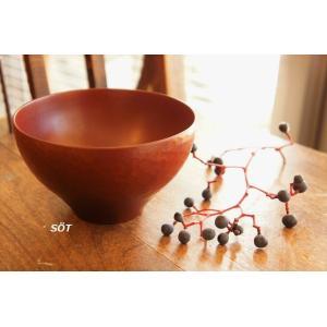 漆器 椀 汁椀 外彫目 赤 落合芝地 作家|sotsot
