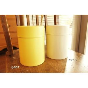 キャニスター 保存容器 ブリキ製 手作りオリジナル Mサイズ 2色 日本製(東京・浅草) 加藤製作所|sotsot