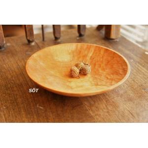 木製楕円皿 浅鉢 サラダプレート パンプレート 小サイズ チェリー材 蜜蝋仕上げ 川端健夫 作家