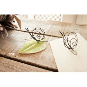 ワイヤークラフト オブジェ かたつむり 木の葉っぱ 植物の香付き アロマ 奥田由味子 作家 メール便対応可|sotsot