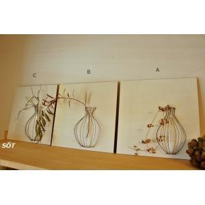 ワイヤー フレーム花器 大 3種類  奥田由味子 作|sotsot