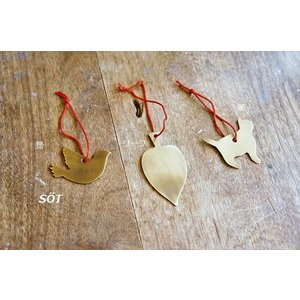ブラスオーナメント 飾り 鳥 リーフ 猫 真鍮製 fog linen work フォグ メール便対応可|sotsot