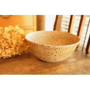 陶器 鉢 ボウル どんぶり小 5.5寸 直径18cm ムーン 松宮洋二 作家 sotsot