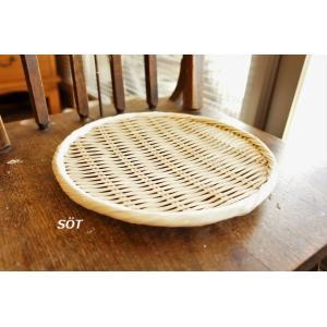 竹製足付盆ザル 8寸サイズ 桑原竹細工店 日本製|sotsot