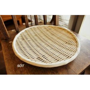 竹製足付盆ザル 9寸サイズ 桑原竹細工店 日本製|sotsot