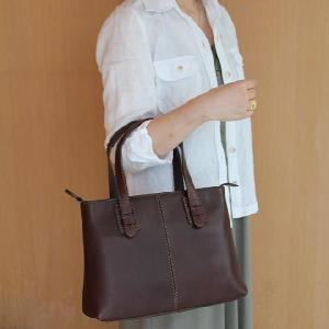 鞄職人がつくるオイルレザーファスナートートバッグNo1505 sou-bag
