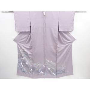 衿は広衿です。 共八掛で柄入りです。 状態は大変良いです。 着用可能です。   身丈:154cm(出...