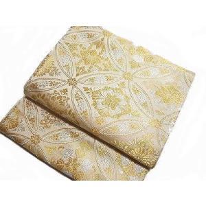 袋帯 フォーマル用 西陣 正絹 七宝 金/銀 留袖など 未仕立て 日本製 廣部商事謹製 カジュアルに...
