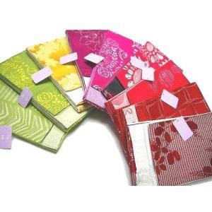 半幅帯 リバーシブル 小袋帯 両面タイプ 刺繍調・ラメ入り おび工房謹製 日本製 ob01~09