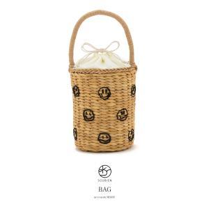 【在庫処分】カゴバッグ 茶色系 ベージュブラウン ビーズ カジュアル 夏向け 浴衣向け 籠バッグ かごバッグ