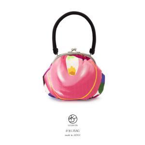成人式におすすめなレトロモダンながま口バッグ   ■色 ピンクや紫など  ■素材 表面 ポリエステル...
