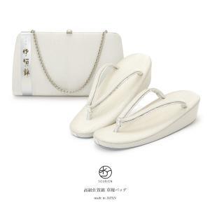 セミフォーマルにおすすめな佐賀錦の2way草履バッグセット   ■色 バッグ 銀色 草履 銀色  ■...