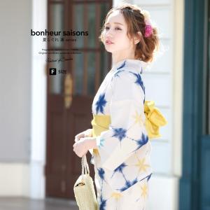 [浴衣/ゆかた/仕立て上がり]  bonheur saisons Jec 夏しぐれ凛 Rin 浴衣セ...