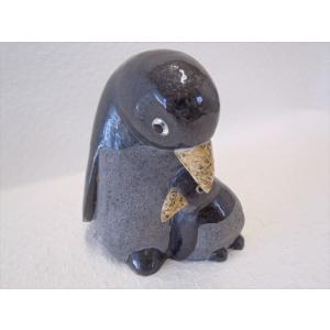 置物 御影石 動物 ペンギン|soujuen