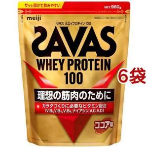 ザバス ホエイプロテイン100 ココア ( 1.05kg*6コセット )/ ザバス(SAVAS)|soukai