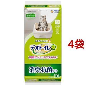 ユニチャーム  1週間消臭・抗菌デオトイレ消臭・抗菌シート ( 10枚入*4コセット )/ デオトイレ