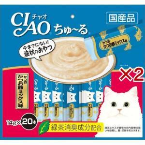 いなば チャオ ちゅ〜る かつお かつお節ミックス味 ( 20本入*2コセット )/ チャオシリーズ(CIAO)|soukai