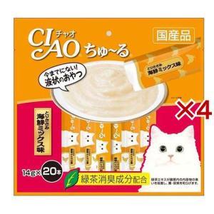 いなば チャオ ちゅ〜る とりささみ 海鮮ミックス味 ( 20本入*4コセット )/ チャオシリーズ(CIAO)