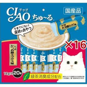 いなば チャオ ちゅ〜る かつお かつお節ミックス味 ( 20本入*16コセット )/ チャオシリーズ(CIAO)|soukai