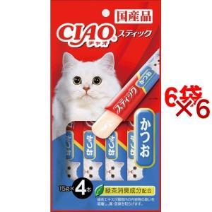 いなば チャオ スティック かつお ( 15g*4本入*6コセット )/ チャオシリーズ(CIAO)|soukai