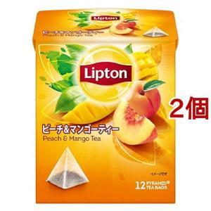 リプトン ピーチ&マンゴー ティーバッグ ( 12包*2コセット )/ リプトン(Lipton)|soukai