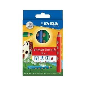 リラ グルーヴ トリプルワン 6色セット LY3831060 ( 1セット )/ リラ(LYRA)